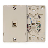Leviton, 6 conducttor, phone-wall jack 40216