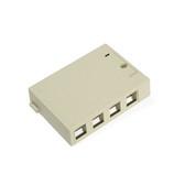 Leviton surface mount box, 4 port, 41089-4