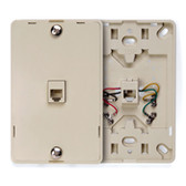Leviton, 4 conductor, wall mount, plastic 40214