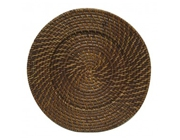 Rattan & Leather Charger Plates