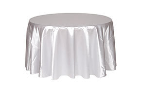 Round Satin Tablecloths