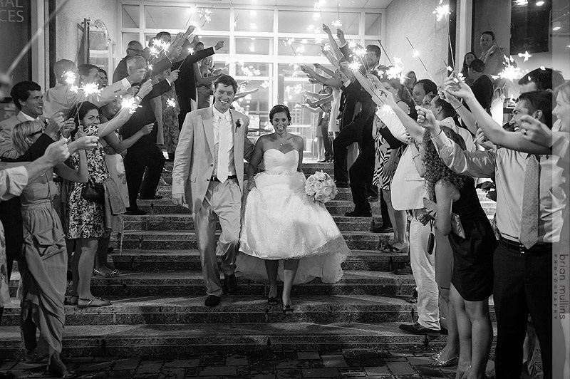 wedding sparkler exit photography