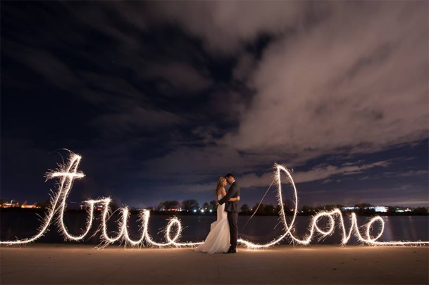 wedding sparkler words