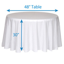 "108"" Round Tablecloths"