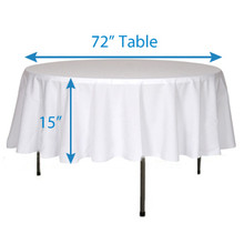 "102"" Round Tablecloths"