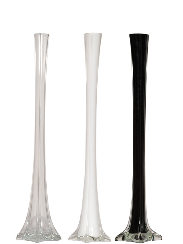 20 Quot Glass Eiffel Tower Vases Events Wholesale