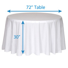 "132"" Round Tablecloths"