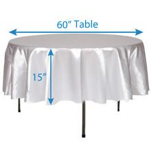 "90"" Round Satin Tablecloths"