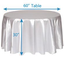 "120"" Round Satin Tablecloths"