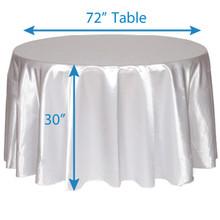 "132"" Round Satin Tablecloths"