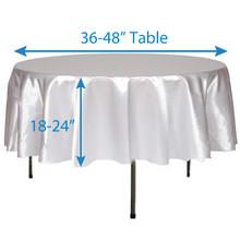 "72"" Round Satin Tablecloths"