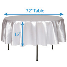 "102"" Round Satin Tablecloths"