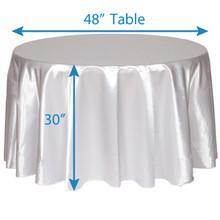 "108"" Round Satin Tablecloths"