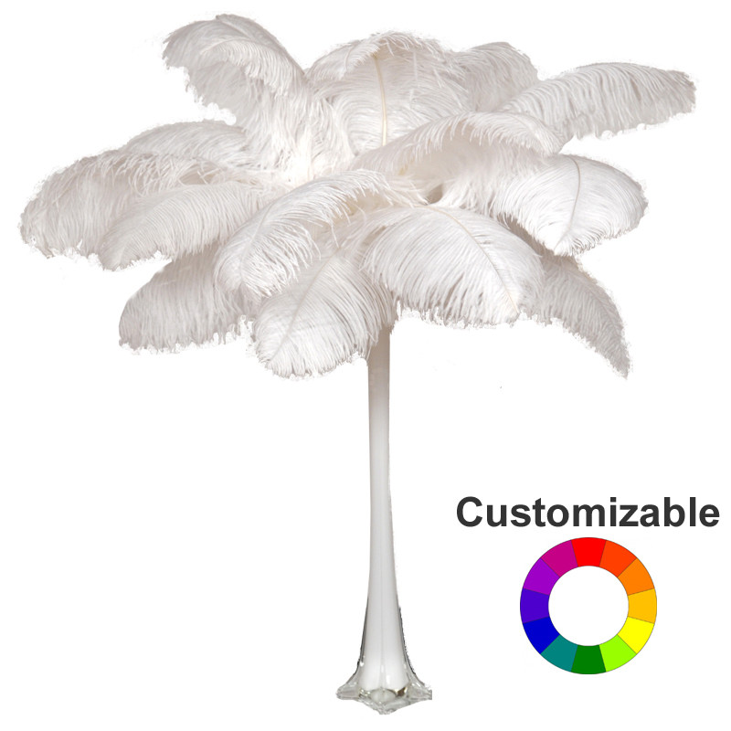 Deluxe ostrich feather plume centerpiece with quot eiffel