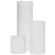 12 Sets of 3 White Pillar Candles