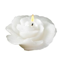 48 White Floating Rose Candles