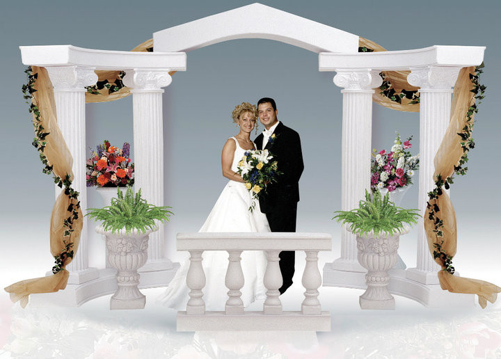 Classic graeco roman style colonnade arch events wholesale for Cheap house decorations for sale