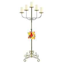 5-Light Fan Floor Candelabra - Pillar