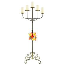 5-Light Fan Floor Candelabra - Pillar