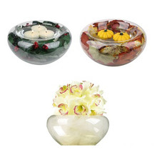 Glass Centerpiece Bubble Bowl - 10.5""