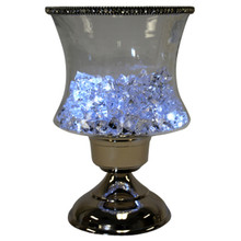 "10"" Concave Candle Holder with Jewel Crystals"