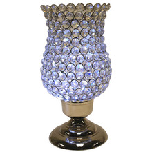 "12"" Crystal Candle Holder in Nickel"