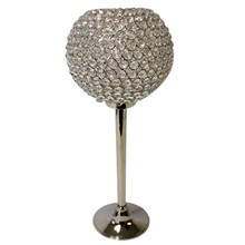 Crystal Ball on Nickel Stand (L)