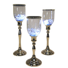Set of 3 Votives with Jewel Crystals