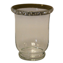 "5.5"" Votive Holders with Jewel Crystals - Case of 4"