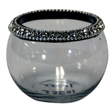"2.5"" Votive Holders with Jewel Crystals - Case of 6"