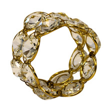 Case of 12 Crystal Napkin Rings in Gold