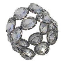 Case of 12 Crystal Napkin Rings in Nickel