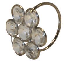 Case of 12 Flower Crystal Napkin Rings