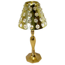 Gold Table Lamp with Crystals