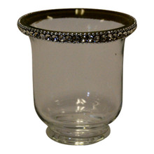 "3.5"" Votive Holders with Jewel Crystals - Case of 6"