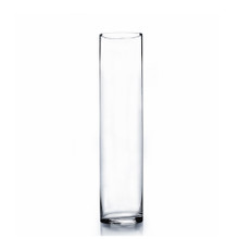 "4"" x 16"" Cylinder Glass Vase - Case of 12 (8.00/pc)"