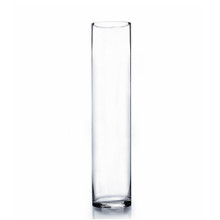 "4"" x 20"" Cylinder Glass Vase - Case of 6 ($9.00/pc)"
