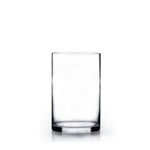 "4"" x 8"" Cylinder Glass Vase - Case of 12 ($4.20/pc)"