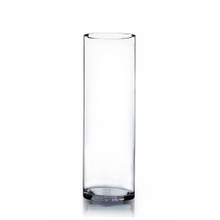 "5"" x 16"" Cylinder Glass Vase - Case of 6 ($10.00/pc)"
