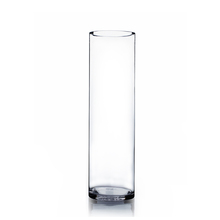 "5"" x 18"" Cylinder Glass Vase - Case of 6 ($13.00/pc)"