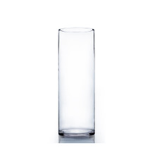 "6"" x 16"" Cylinder Glass Vase - Case of 6 ($13.00/pc)"