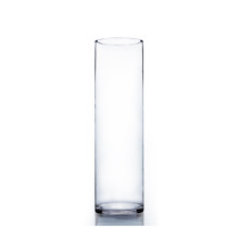 "6"" x 20"" Cylinder Glass Vase - Case of 6 ($18.00/pc)"