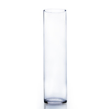 "6"" x 26"" Cylinder Glass Vase - Case of 4 ($24.50/pc)"