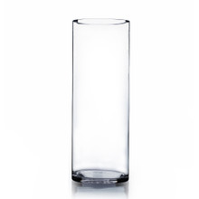 "7"" x 20"" Cylinder Glass Vase - Case of 4 ($26.00/pc)"