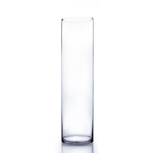"7"" x 26"" Cylinder Glass Vase - Case of 4 ($27.00/pc)"