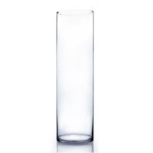 "8"" x 28"" Cylinder Glass Vase - Case of 2 ($40.00/pc)"