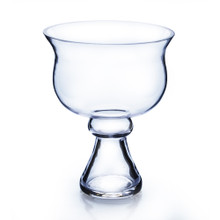 "6"" x 8"" Bowl Glass Vase on Stand - 12 Pieces"