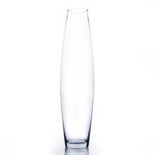 "4"" x 24"" Urn Bullet Glass Vase - Case of 4 ($22.00/pc)"