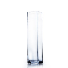 "3"" x 14"" Block Glass Vase - Case of 12 ($7/pc)"