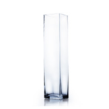 "4"" x 16"" Block Glass Vase - Case of 12 ($9.50/pc)"
